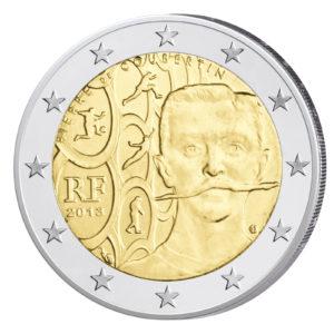 Frankreich 2 Euro-Sondermünze 2013 - 150. Geburtstag Pierre de Coubertin