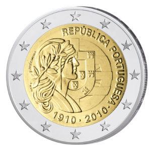 Portugal 2 Euro-Gedenkmünze 2010 – 100 Jahre Portugiesische Republik