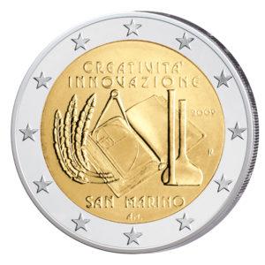 San Marino 2 Euro-Sondermünze 2009 – Europäisches Jahr für Kreativität und Innovation