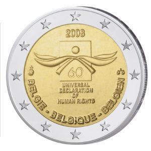 Belgien 2 Euro-Gedenkmünze 2008 60 Jahre Menschenrechte