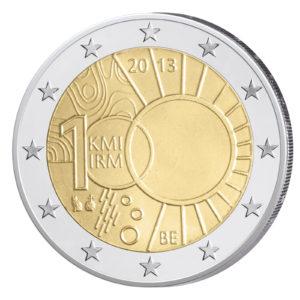Belgien 2 Euro-Sondermünze 2013 – 100 Jahre Königliches Meteorologisches Institut in Belgien