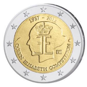 Belgien 2 Euro-Sondermünze 2012 – 75 Jahre Königin Elisabeth Musik Wettbewerb