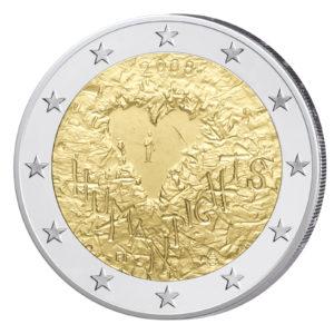 2 Euro-Gedenkmünze 2008 60 Jahre Menschenrechte