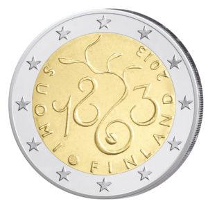 Finnland 2 Euro-Sondermünze 2013 - 150. Jahrestag Einberufung des Parlaments 1863
