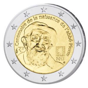 Frankreich 2 Euro-Gedenkmünze 2012 - 100. Geburtstag Abbé Pierre