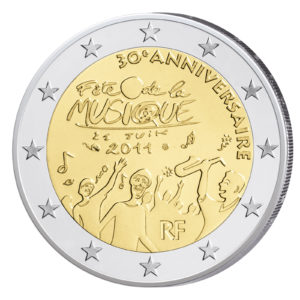 Frankreich 2 Euro-Gedenkmünze 2011 – 30 Jahre Fête de la Musique