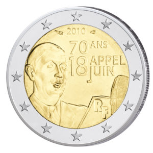 Frankreich 2 Euro-Gedenkmünze 2010 – 70. Jahrestag des Appells vom 18. Juni