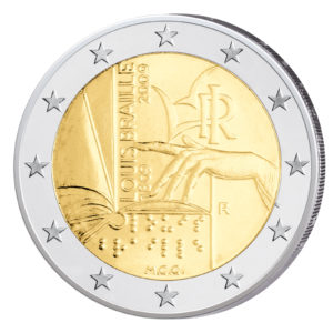Italien 2 Euro-Gedenkmünze 2009 – 200. Geburtstag Louis Braille