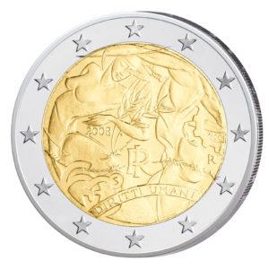 Italien 2 Euro-Sondermünze 2008 - 60 Jahre Menschenrechte