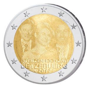Luxemburg 2 Euro-Gedenkmünze 2012 - Hochzeit von Erbgroßherzog Guillaume und Stéphanie