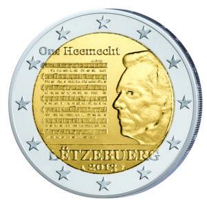 Luxemburg 2 Euro-Sondermünze 2013 - Nationalhymne