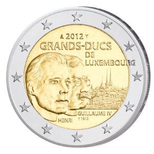 Luxemburg 2 Euro-Gedenkmünze 2012 - 100. Todestag Wilhelm IV. von Luxemburg