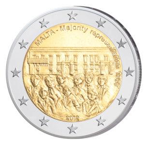 Malta 2 Euro-Gedenkmünze 2012 - Mehrheitswahlrecht 1887