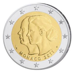 Monaco 2 Euro-Gedenkmünze 2011 – Hochzeit Albert II. und Charlene Wittstock