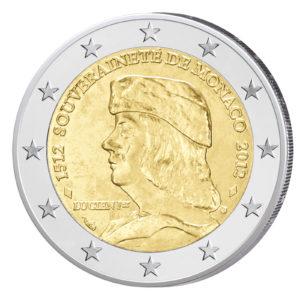 Monaco 2 Euro-Gedenkmünze 2012 – 500 Jahre Souveränität