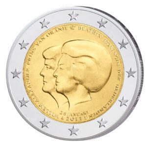 Niederlande 2 Euro-Sondermünze 2013 - Ankündigung des Thronwechsels