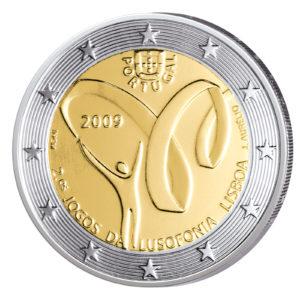 Portugal 2 Euro-Gedenkmünze 2009 – Spiele der Lusophonie
