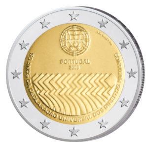 Portugal 2 Euro-Gedenkmünze 2008 - 60 Jahre Menschenrechte