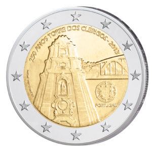 Portugal 2 Euro-Sondermünze 2013 - 250 Jahre Glockenturm der Clérigos-Kirche