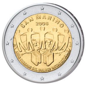 San Marino 2 Euro-Gedenkmünze 2008 - Europäisches Jahr des Interkulturellen Dialogs