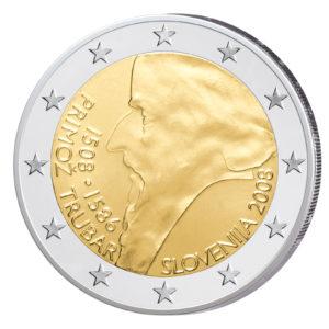 Slowenien 2 Euro-Gedenkmünze 2008 500. Geburtstag von Primoz Trubar