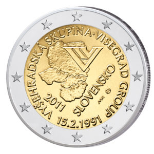Slowakei 2 Euro-Gedenkmünze 2011 - 20. Jahrestag des Visegrád-Abkommens