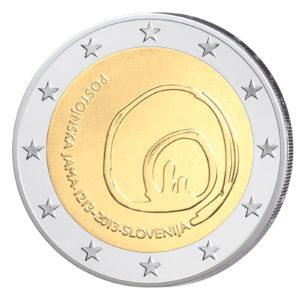Slowenien 2 Euro-Sondermünze 2013 - 800. Jahrestag Entdeckung der Höhlen von Postojna