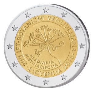 Slowenien 2 Euro-Gedenkmünze 2010 – 200 Jahre Botanischer Garten Ljubljana