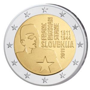 Slowenien 2 Euro-Gedenkmünze 2011 - 100. Geburtstag Franc Rozman