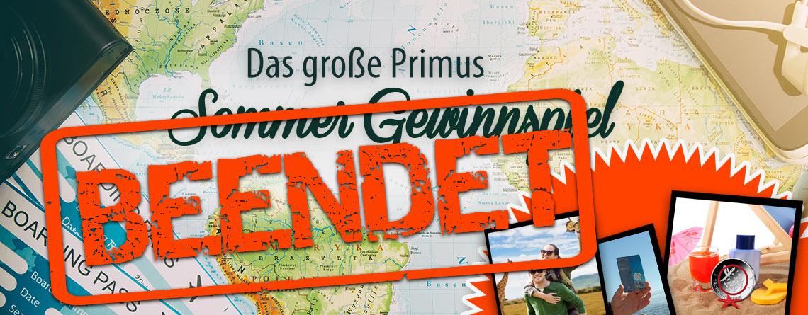Das große Primus Sommer Gewinnspiel ist nun beendet. Herzlichen Dank für die Teilnahme!