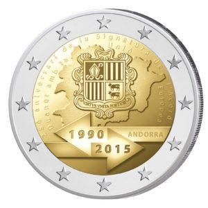 Andorra 2 Euro-Gedenkmünze 2015 – 25. Jahrestag der Zollunion mit der EU
