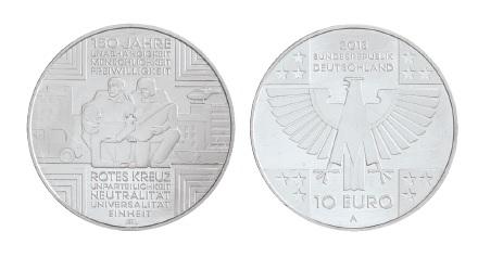 BRD 10 Euro 2013 150 Jahre Rotes Kreuz