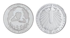 10 Euro Münzen aus Deutschland 2013