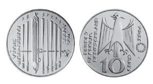 BRD 10 Euro 2014 300 Jahre Fahrenheit-Skala