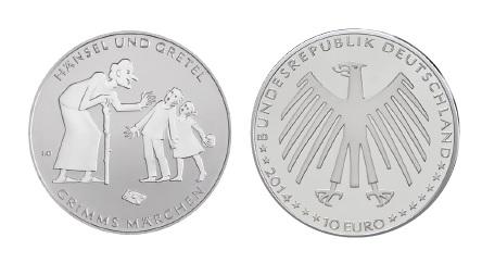 BRD 10 Euro 2014 Grimms Märchen – Hänsel und Gretel