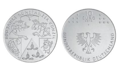 BRD 10 Euro 2014 600 Jahre Konstanzer Konzil