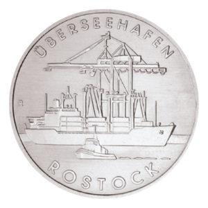 DDR 5 Mark 1988 Überseehafen Rostock