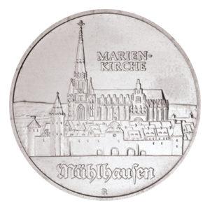 DDR 5 Mark 1989 Marienkirche in Mühlhausen