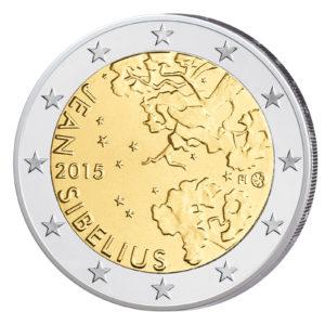 Finnland 2 Euro-Gedenkmünze 2015 - 150. Geburtstag von Jean Sibelius