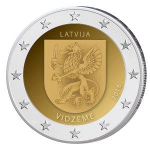 Lettland 2 Euro-Sondermünze 2016 – Regionen und Grafschaften - Zentral-Livland (Vidzeme)