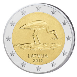 Lettland 2 Euro-Gedenkmünze 2015 – 30 Jahre Lettische Ornithologische Gesellschaft