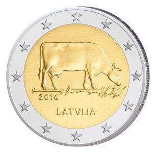 Lettland 2 Euro-Sondermünze 2016 – Milchwirtschaft