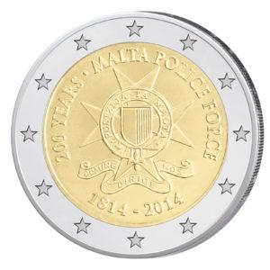 Malta 2 Euro-Sondermünze 2014 - 200. Jahrestag der maltesischen Polizei