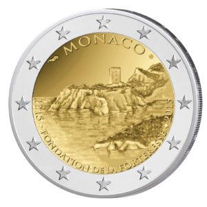 Monaco 2 Euro-Gedenkmünze 2015 - 800 Jahre Bau des ersten Schlosses auf dem Felsen von Monaco