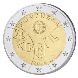 Portugal 2 Euro-Gedenkmünze 2014 - 40 Jahre Nelkenrevolution