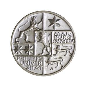 """Weimarer Republik 3 Reichsmark 1927 """"400 Jahre Philipps-Universität Marburg"""", J. 330"""