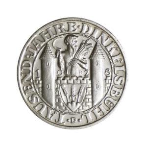 """Weimarer Republik 3 Reichsmark 1928 """"1.000 Jahre Dinkelsbühl"""", J. 334"""
