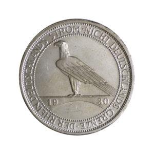 """Weimarer Republik 3 Reichsmark 1930 """"Rheinland-Räumung"""", J. 345"""