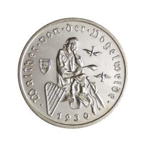 """Weimarer Republik 3 Reichsmark 1930 """"700. Todestag von Walther von der Vogelweide"""", J. 344"""