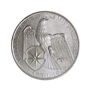 """Weimarer Republik 3 Reichsmark 1929 """"Vereinigung Waldecks mit Preußen"""", J. 337"""